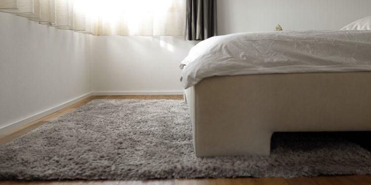 Teppich auf Schlafzimmerboden