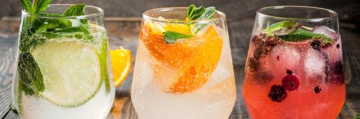 Cocktails aus Gin und Tonic